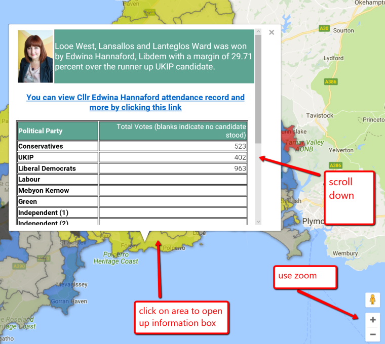 Cornwall Council Elections And Interactive Map Progressive - Live interactive map us election